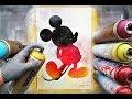 Mickey mouse GLOW IN DARK - SPRAY PAINT ART - by Skech