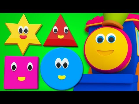Bob The Train   Shapes Song For Kids And Baby   Adventure with Shapes   Bob Cartoons by Kids Tv
