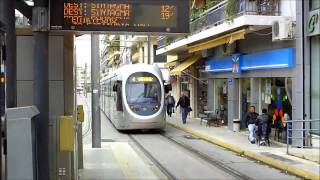 The Tramway In Athens,Greece (HD)