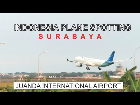 Indonesia Plane Spotting, Juanda International Airport Surabaya, Landing And Take Off Aircraft