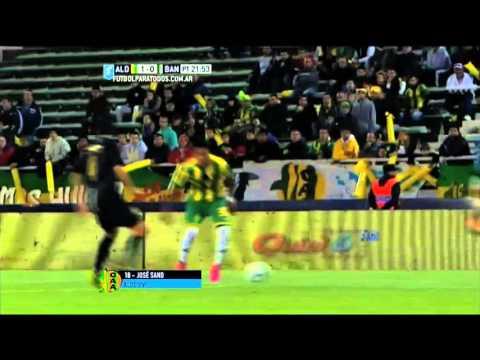 Gol de Sand. Aldosivi 1 – Banfield 0. Final Liguilla Pre Sudamericana 2015