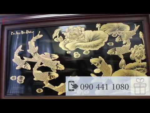 Tranh đồng điêu khắc vàng 24K