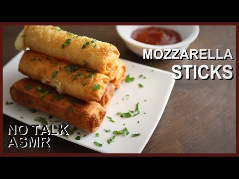 Fried Mozzarella Sticks - No Talk ASMR Cooking Recipe