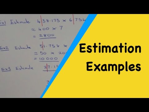 How to work out an estimate without your calculator