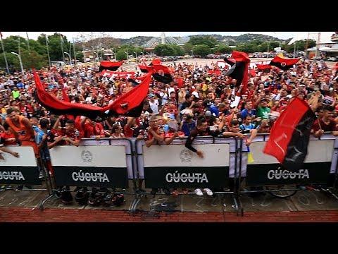 Gran bienvenida al doblemente glorioso Cúcuta Deportivo. - La Banda del Indio - Cúcuta