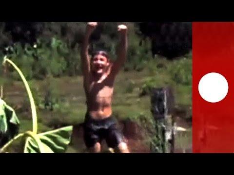 恐怖實錄:巴西少年水中被吸走的恐怖瞬間!瞬間消失的畫面讓人害怕!