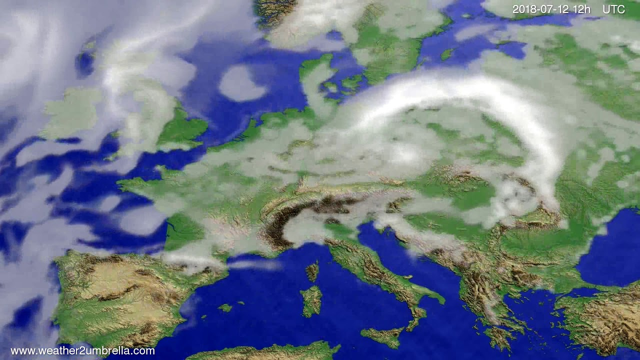 Cloud forecast Europe 2018-07-10