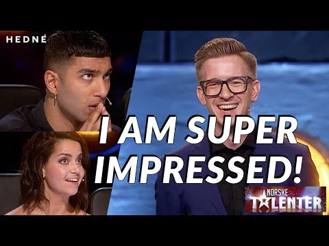 AMAZING CARD MAGIC AND MENTALISM! HEDNÉ fools all the judges!|Norway's Got Talent 2017(SUBTITLED)