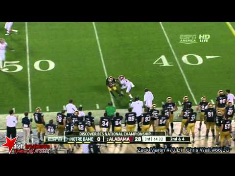 Nick Martin vs Alabama (BCS NCG) 2013 video.