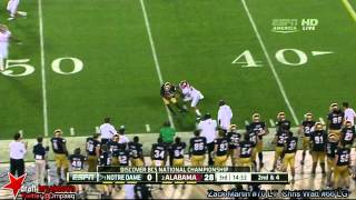 Zack Martin vs Alabama (2012 Bowl)