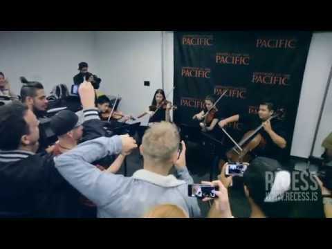 University - After headlining the RECESS Music and Ideas festival Spring 2014 stop at University of The Pacific in Stockton, CA, Diplo gets a surprise thank you as a student String Quartet performs their...
