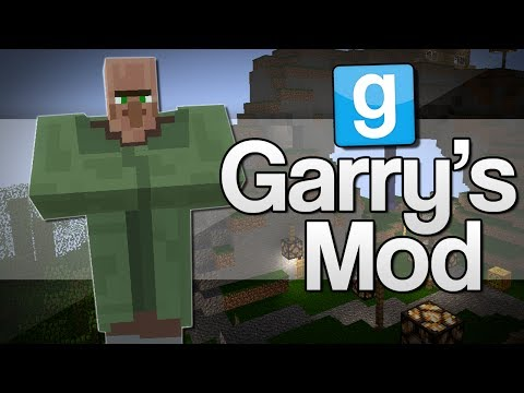 TINY HEAD VILLAGERS | Garry's Mod: Minecraft Mods (GMod)