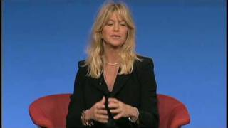 Goldie Hawn and Dan Siegel at TEDMED 2009