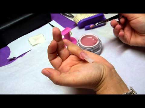 nail art - ricostruzione in gel con french marble effect