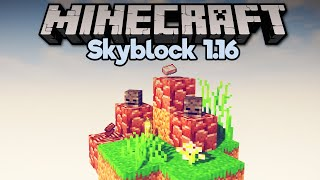 How To Get Netherite In Skyblock! • Minecraft 1.16 Skyblock (Tutorial Let's Play) [Part 26]