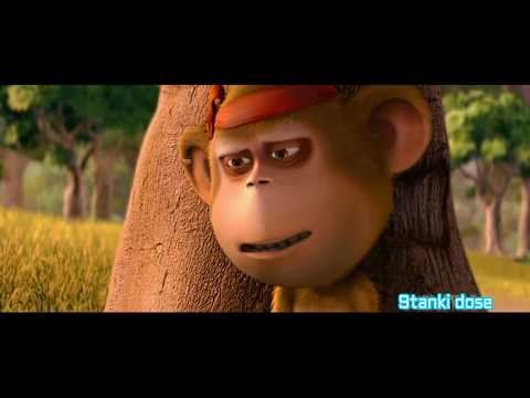 Delhi Safari|Bandru|Funny Moment|Monkey|Language|Govinda|Hindi|