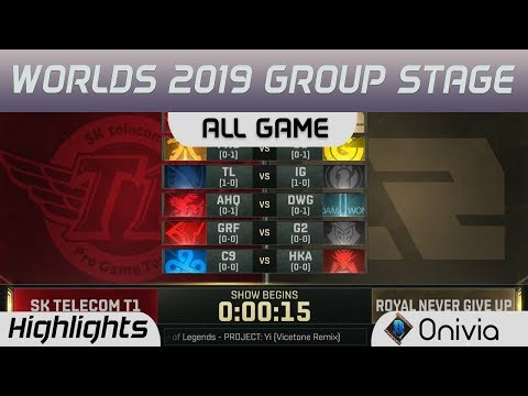 Group Stage Day 2 All Game Highlights Worlds 2019