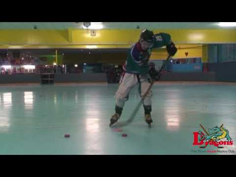 Handle The Puck In Roller Hockey