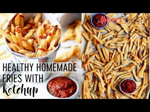 Finger-Lickin' Good and Healthy Oven Baked Fries & Ketchup