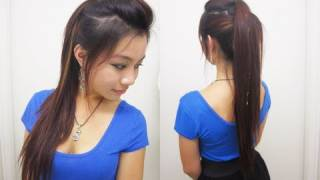 Cute Ponytail Hairstyles for Medium Long Hair l Chic Edgy Ponytail l Quick and Easy Hairstyles
