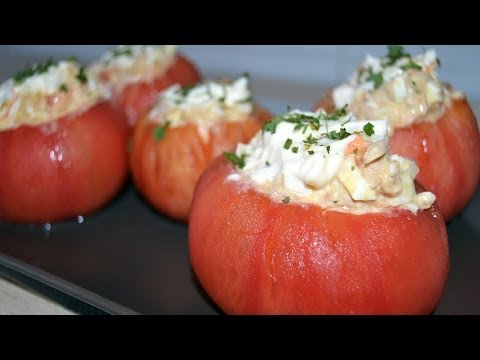 Tuna-Stuffed Tomatoes - Easy Tomato, Tuna & Egg Salad Recipe