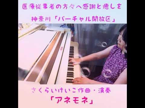 神奈川「バーチャル開放区」櫻井桂子作曲・演奏「アネモネ」の画像