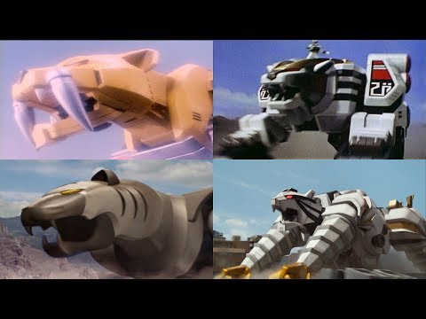 The Rangers summon Tiger Zords | Neo-Saban Superheroes Tigers | Megaforce | Power Rangers Official