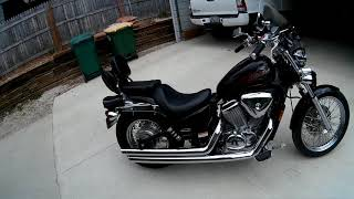6. Review on 2007 Honda Shadow 600 vlx with COBRA pipes.