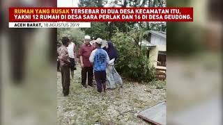 Angin Kencang Terjang Aceh Barat, 28 Rumah Rusak Parah