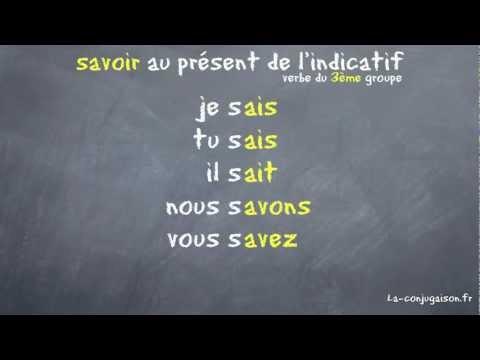 savoir au présent de l'indicatif - La-conjugaison.fr