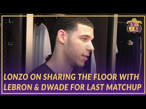Video: Lakers Post Game: Lonzo Ball on Sharing the Floor with LeBron & D-Wade On History Night