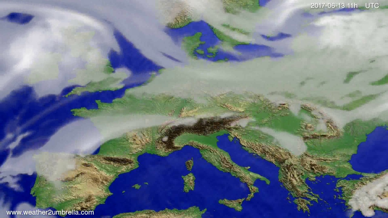 Cloud forecast Europe 2017-06-10