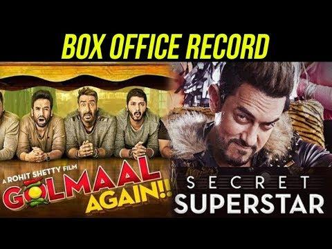 Golmaal Again VS Secret Superstar | Box Office Rep