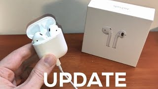 Quick and easy guide on how to update the AirPods firmware!!Gadget Deals: http://amzn.to/2f8ysW0Apple AirPods: http://amzn.to/2mYNrV3Apple EarPods w/ Lightning Connector: http://amzn.to/2neyZKkApple EarPods: http://amzn.to/2mYmrW0AirPods Strap: http://amzn.to/2neHhSBAirPods Black Wrapping: http://amzn.to/2neEvNeBeats X Wireless Headphones: http://amzn.to/2nepwCRPowerBeats3 Wireless Headphones: http://amzn.to/2mYKgg6Bose QC35 Wireless Headphones: http://amzn.to/2nepM4NBeats Studio 2 Wireless Heaphones: http://amzn.to/2neA3xOiPhone 7 Black: http://amzn.to/2dqCThAiPhone 7 Plus Black: http://amzn.to/2e4zWkFiPhone 7 Jet Black: http://amzn.to/2dqATpxiPhone 7 Gold: http://amzn.to/2ea6U4wiPhone 7 Silver: http://amzn.to/2ewE4s0iPhone 7 Rose: http://amzn.to/2dDfQPkiPhone 6S: http://amzn.to/2e4BH1kSupport me on Patreon for as little as $1 a month! https://www.patreon.com/TheGadgetGodFacebook: https://www.facebook.com/candyvinthegadgetgodTwitter: https://twitter.com/TheGadgetGodTwitch: https://www.twitch.tv/thegadgetgodInstagram: https://www.instagram.com/thisisvinchenzo