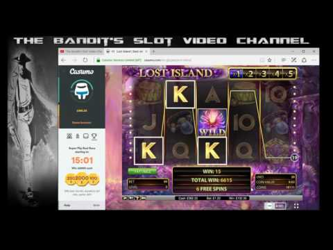 Super Mega Big Win Wildline on Lost Island Online Slot from The Bandit