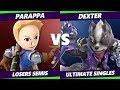 Parappa (Mii Sword, Ryu) Vs. Dexter (Wolf, Lucina) S@X 285 SSBU LS