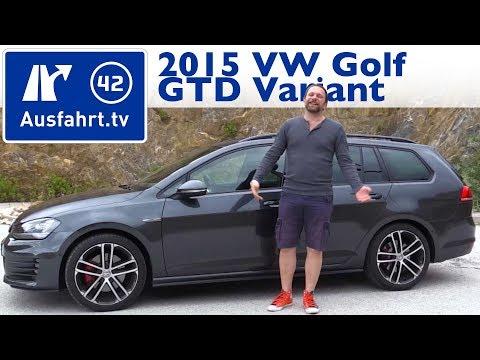 2015 Volkswagen VW Golf GTD Variant   Fahrbericht der Probefahrt  Test   Review German