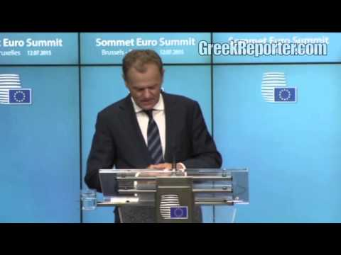 Greece Reaches Deal: Official Announcement at the Euro Summit Press Conference
