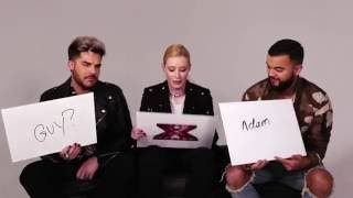 X Factor - How well do Iggy, Guy and Adam know each other?