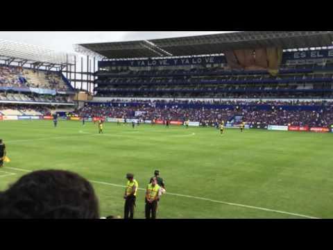 Celebración 1er gol Bryan Angulo Emelec 3 Fuerza Amarilla 1 - Boca del Pozo - Emelec