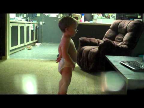 2 year old doing Insanity Workout
