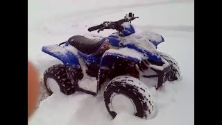 5. Kymco Mongoose 90 playing in the snow