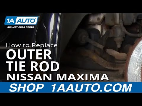 How To Install Replace Worn Outer Tie Rod 1995-08 Nissan Maxima