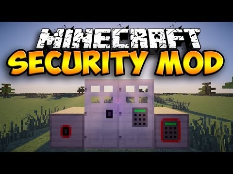 Security Mod - KEYS, CODES, and MORE! (Minecraft Mod Showcase)