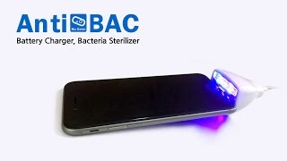 video thumbnail AntiBac 2 Cellphone sterilizing charger youtube