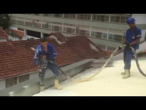 Isolamento telhado com espuma de PU