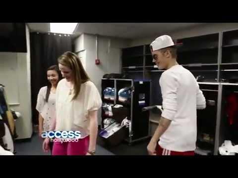 Missy Franklin Meets Justin Bieber