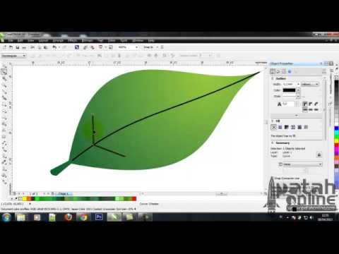 patah19 - Tutorial Dasar Coreldraw cara membuat daun bunga.