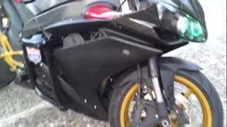 6. 2007 Custom Yamaha R1 YZF-R1 Start Up/Walk Around
