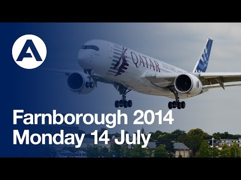 Farnborough Air Show 2014 - Monday 14 July Flying displays (uncut version)